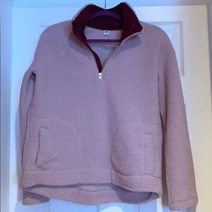 Plush Sherpa pull over